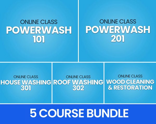 5 Course Power Wash Bundle